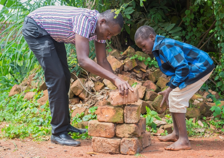 Teaching others to build low cost homes in Uganda