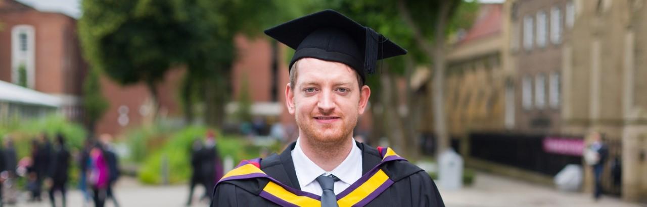 Michael graduating